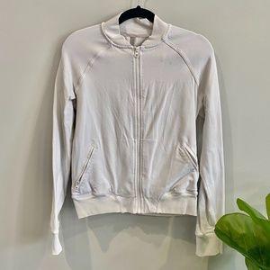 Lululemon white bomber jacket